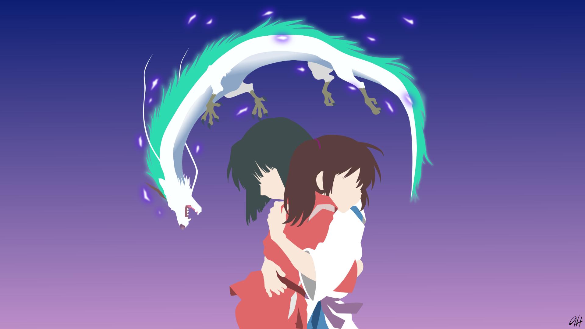 Film Spirited Away Chihiro Spirited Away Anime Minimalist Haku