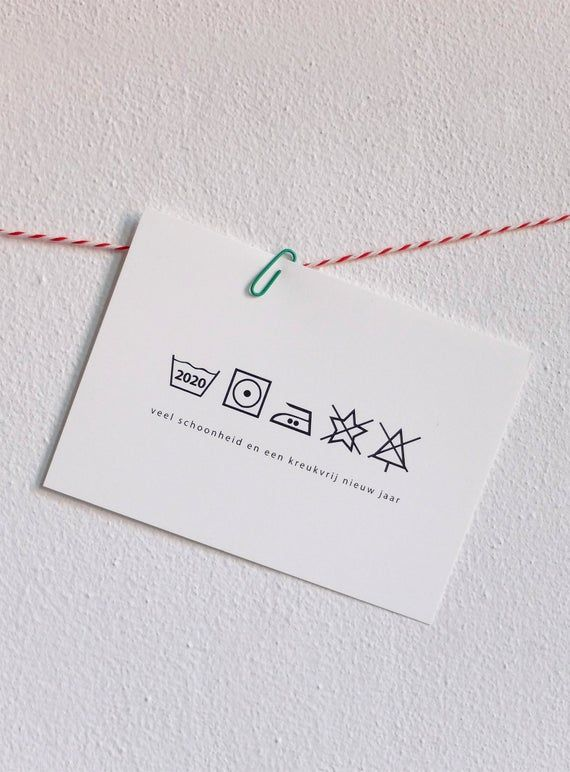 Washing instructions Christmas card