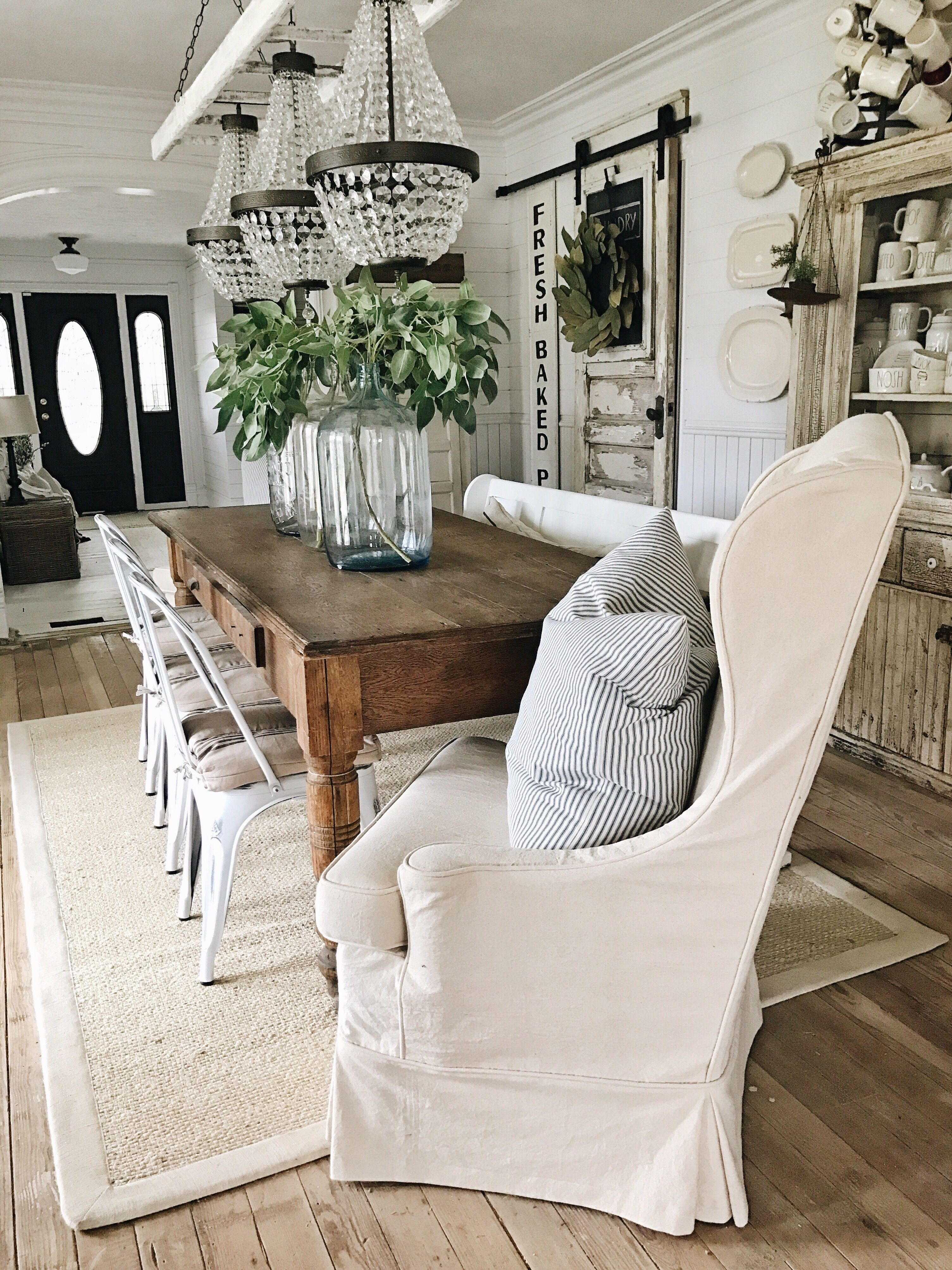 farmhouse living room chairs small for the decor from ikea love dining