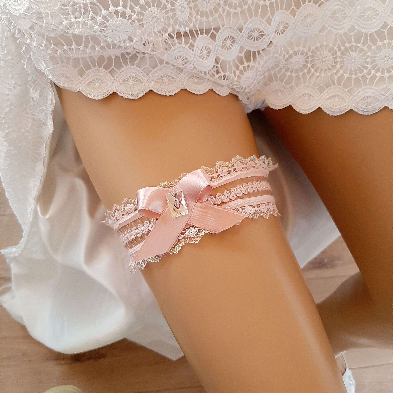 Lace Garter Wedding Garter Pink Bridal Garter Pink Toss Garter Set Of Garter Garters Pink Garter Set Pink Wedding Garter Prom Garter