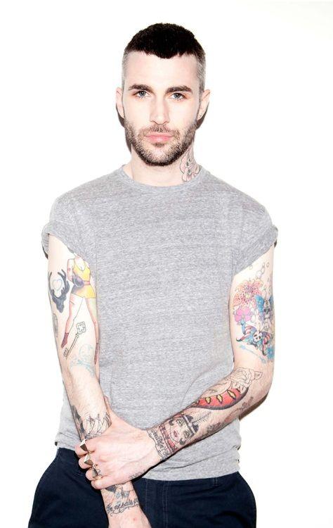 #guys #street #fashion #menswear #style #streetstyle #australian #summer #tshirt #shirt #grey #tattoo