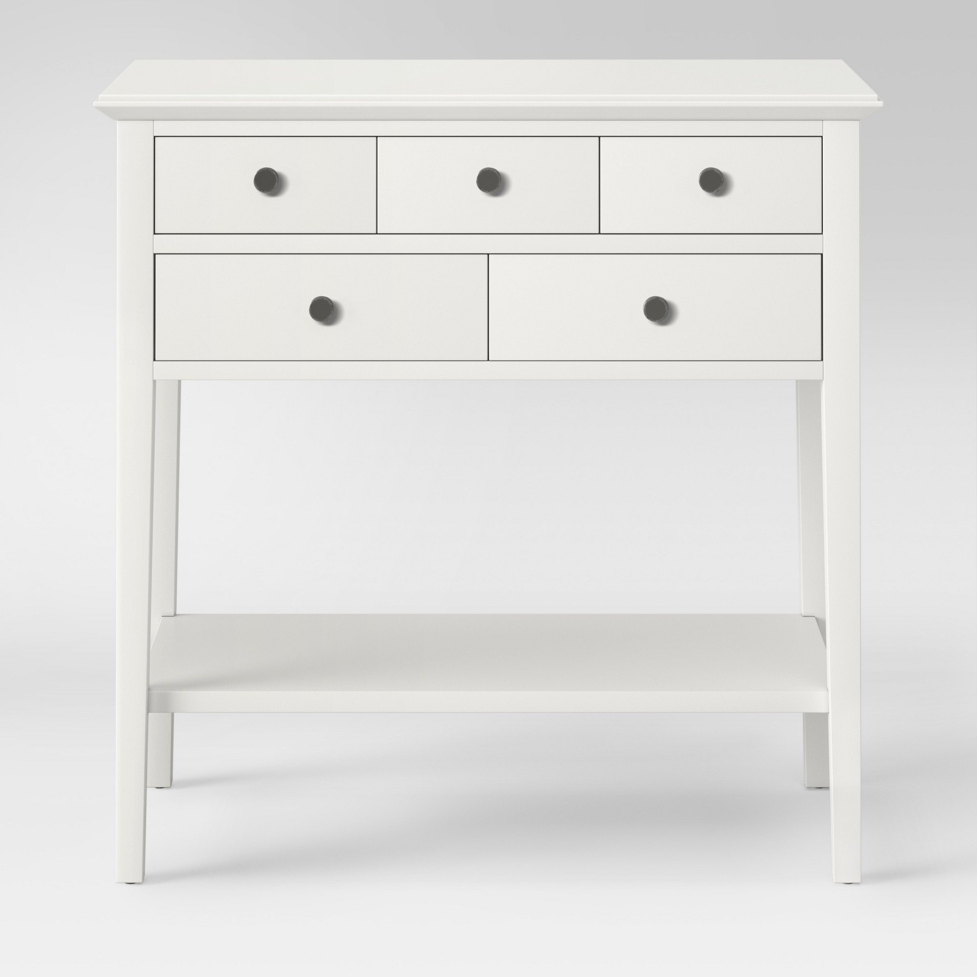 cream console table. 5 Drawer Console Table Sour Cream (Ivory) - Threshold O
