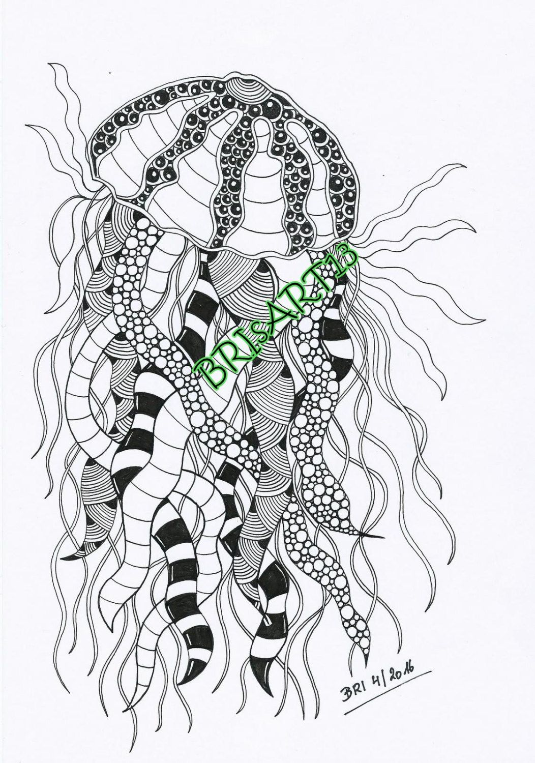 Downloads Zentangles - Adult coloring DOODLES-ZIA made by BRI ...