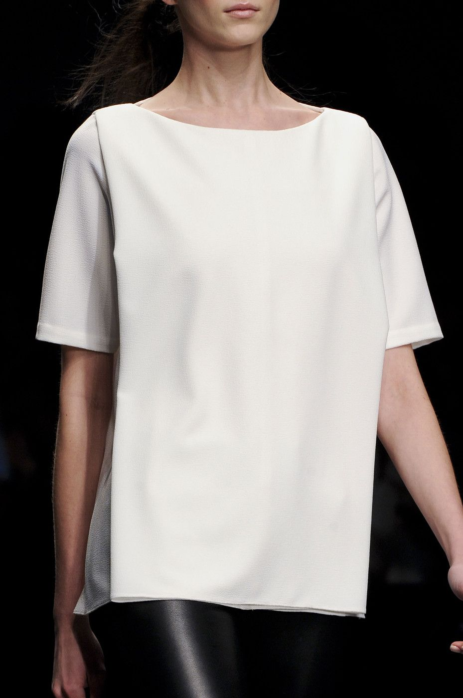 oversized structured white shirt