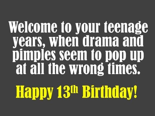13th Birthday Wishes What To Write In A Card Quotes Pinterest