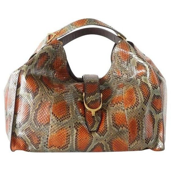 6923daefd30 Pre-owned GUCCI bag Stirrup hardware python large tote sold out ...