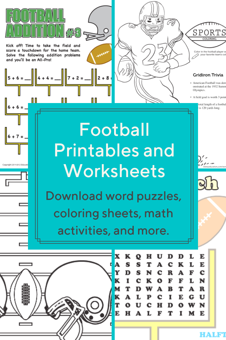 Download These Free Football Themed Printables And Worksheets That Are Perfect For Preschoolers Elementary Activities Homeschool Resources Classroom Activities [ 1102 x 735 Pixel ]