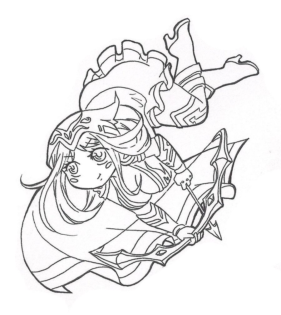 Line Art Meme : Chibi ashe lineart by spigarose league of