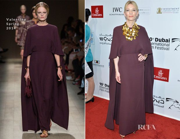 Cate Blanchett In Valentino - 2013 Dubai International Film Festival Opening Night Gala