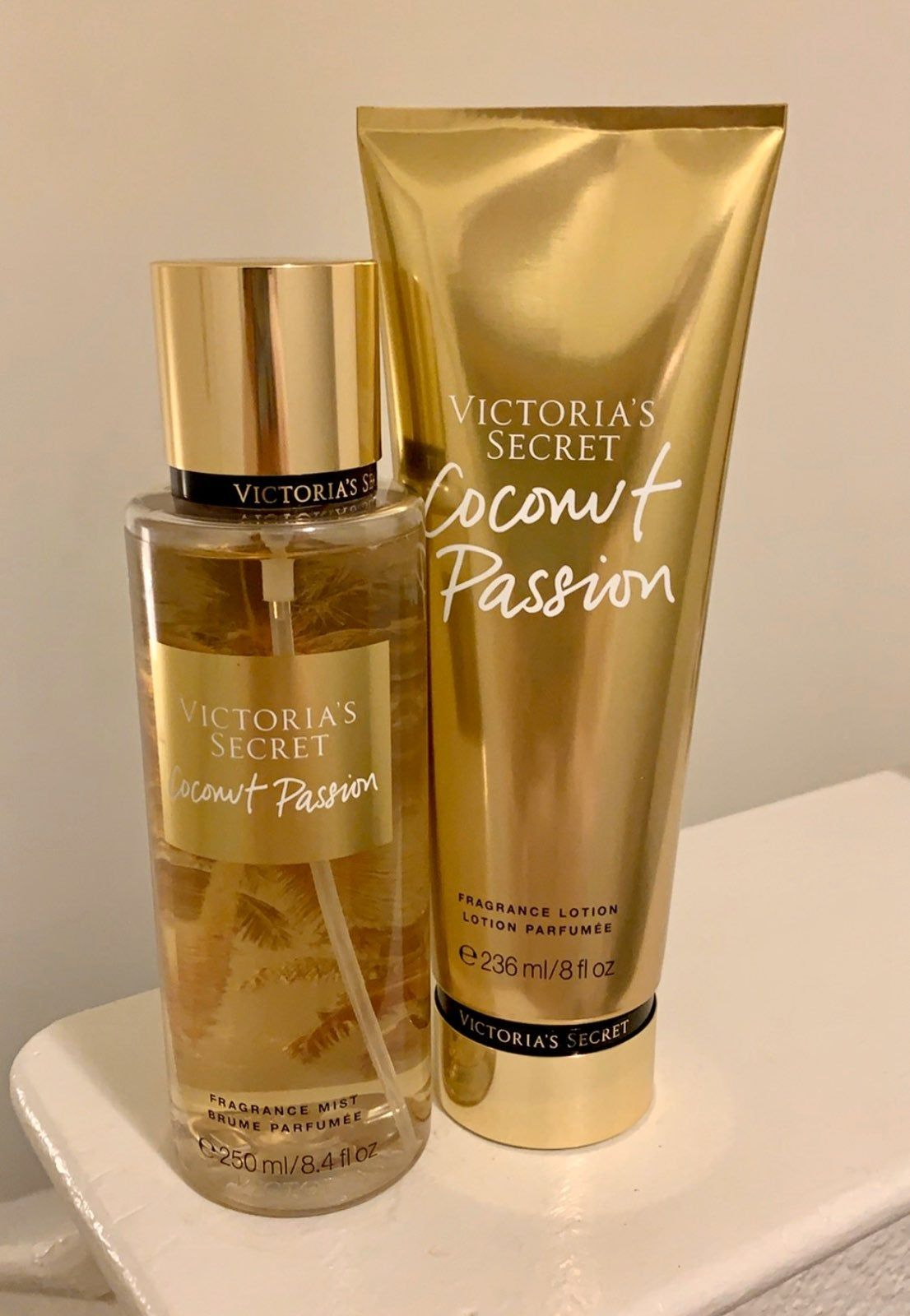 Brand new VS mist & lotion in Coconut Passion. Mist is 8.4