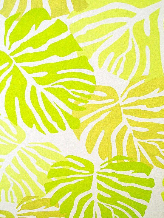 Tropical Stencil Furniture Makeovers #tropicalpattern
