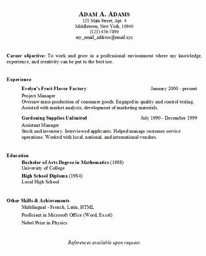 free simple resume templates best of simple resume and generators on pinterest in 2020