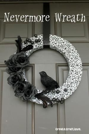 Nevermore Halloween Wreath by nellie