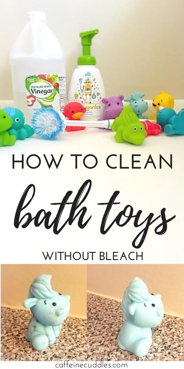 How To Clean Bath Toys Naturally Without Bleach Find Out - Bathing Baby Without Tub