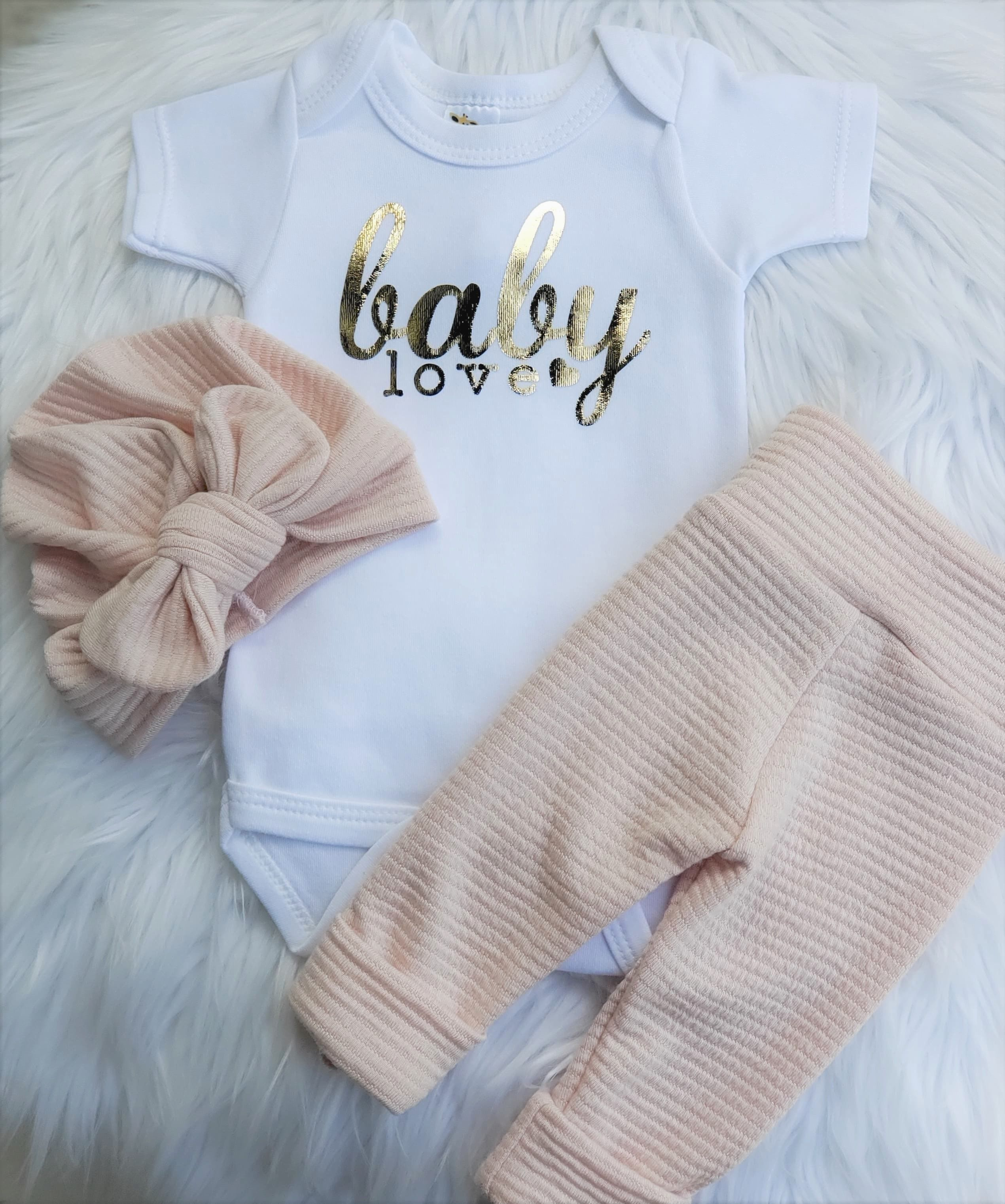 Baby Love Gold Foil Onesie  Shop Baby Boutique Outfits That Are