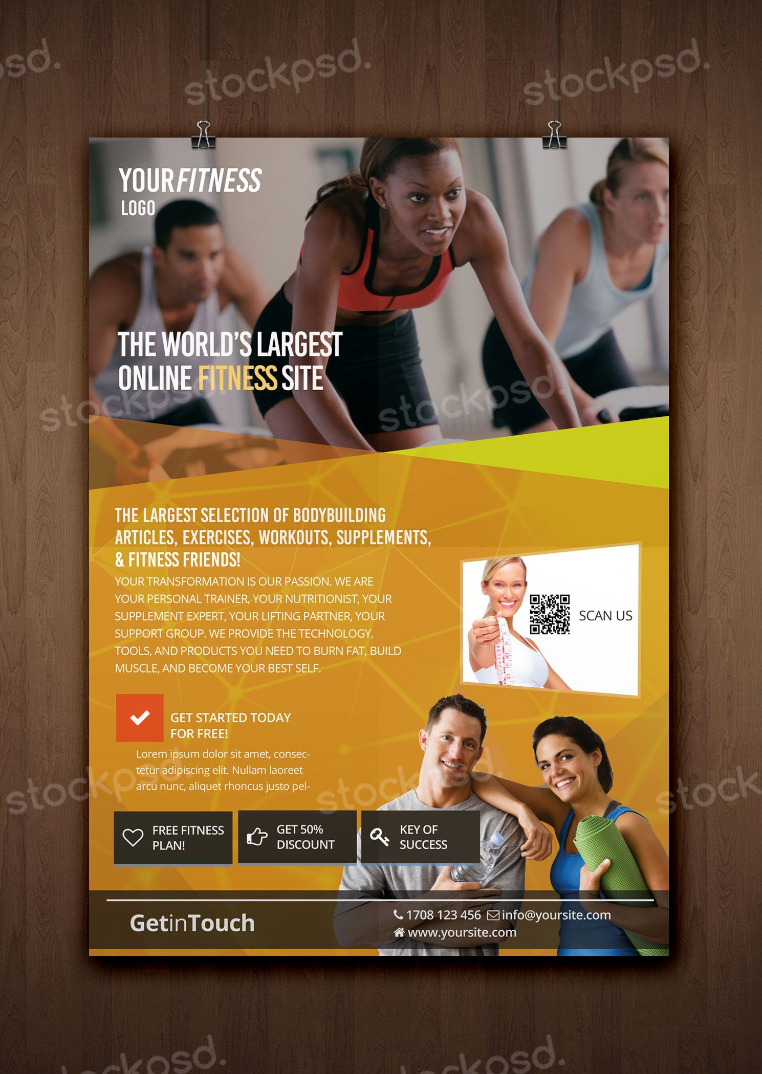Fitness, Gym U0026 Health   FREE PSD Flyer Template   Free PSD Flyer Templates  To
