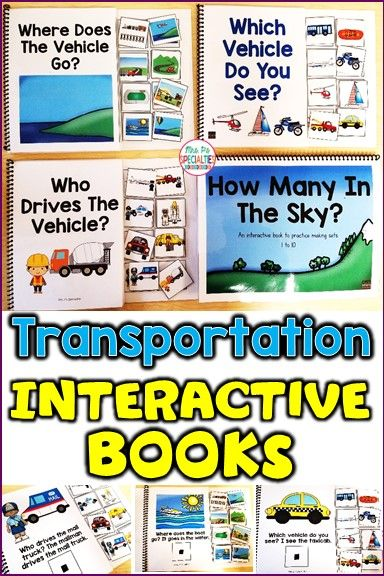 Is Special Education In Trouble >> Transportation Interactive Books Resources By Mrs P S Specialties