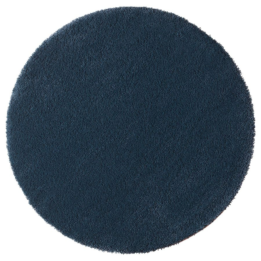 Vloerkleed, Hoogpolig ÅDUM Donkerblauw