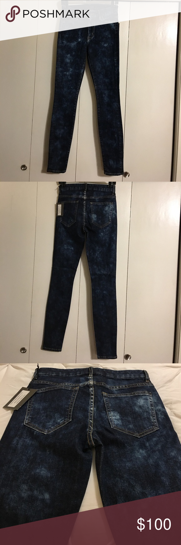 """NWT Koral Blue Chem Chemical Wash Skinny jeans 27 Size 27"""" Waist  30"""" Hips 31"""" Inseam. High Rise Skinny Blue-Chem-Chemical Wash Jeans. F115-050S Chem Brand new with tags. Koral Jeans Skinny"""