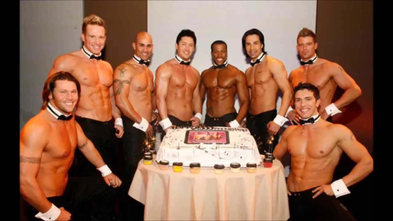 Hunky Guy With A Birthday Cake