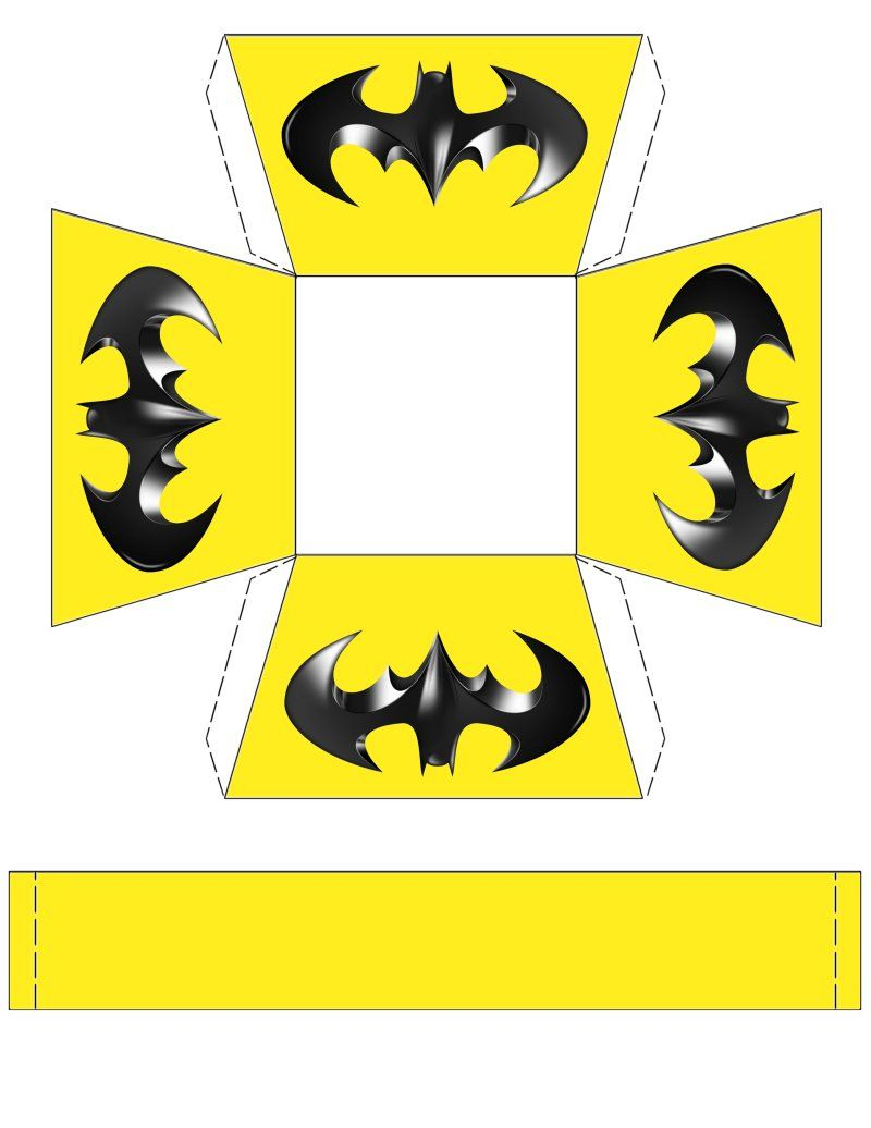 Batman Basket For Your Next Batman Party Free To Use Free To Share