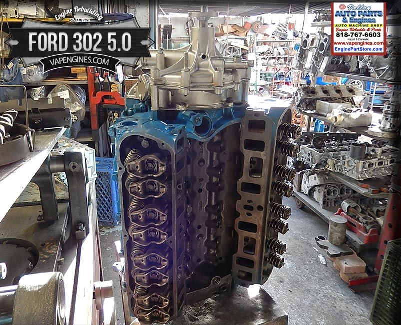 Ford 302 5 0 V8 Remanufactured Engine | Los Angeles Auto