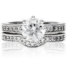 2.75 CT. Double Band Wedding/Bridal/Cocktail Pave Set Round Cut R/P Classy Ring Sz 5-10