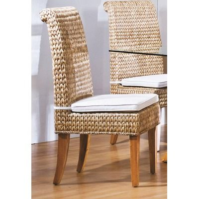 Hospitality Rattan Sea Breeze Indoor Seagrass Side Chair ($292 ...