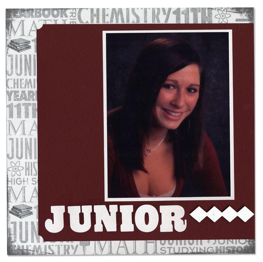 How to scrapbook school years - Reminisce School Album Eleventh Grade Junior