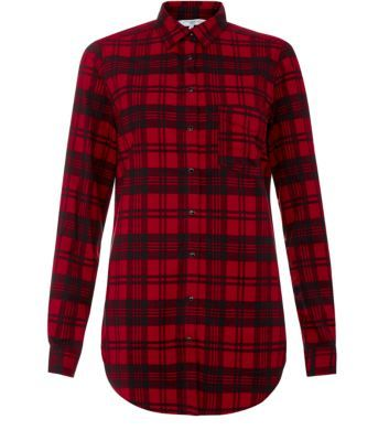 €23 Red Tartan Check Shirt | College Green Pricing Women's Shirts ...