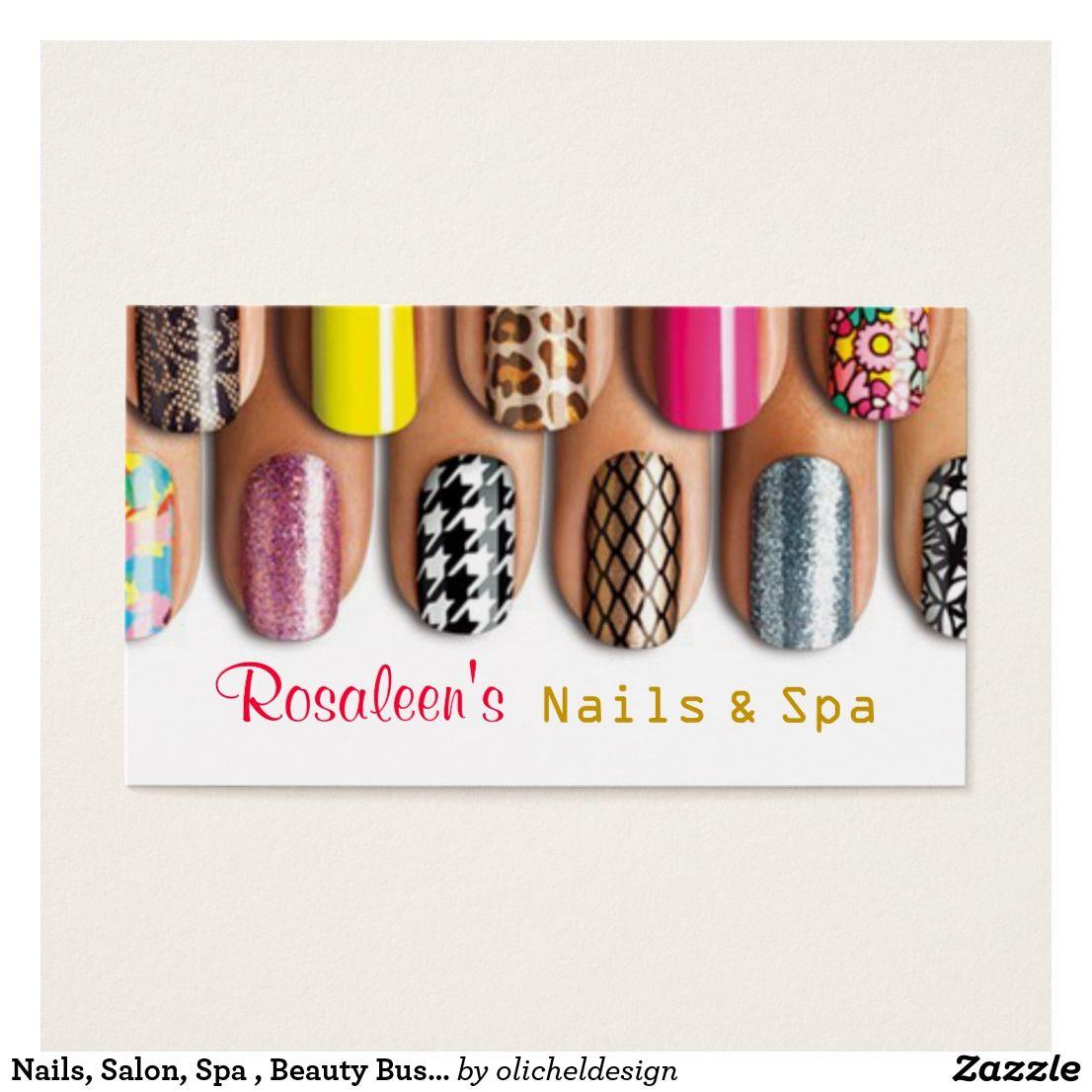 Nails salon spa beauty business card beauty business cards nails salon spa beauty business card reheart Gallery