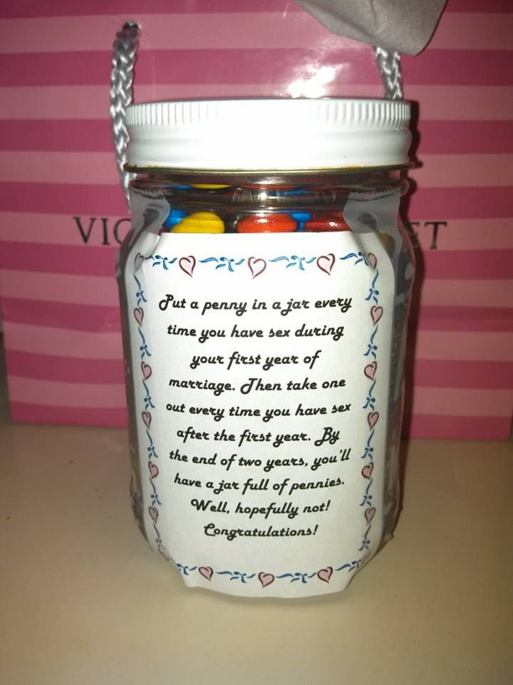 This Easy Inexpensive Jar Works Well As A Bridal Shower Gift I Filled It With M S But Other Ideas Are Pennies Or Fa Jar Words That Describe Me Mason Jar Mug