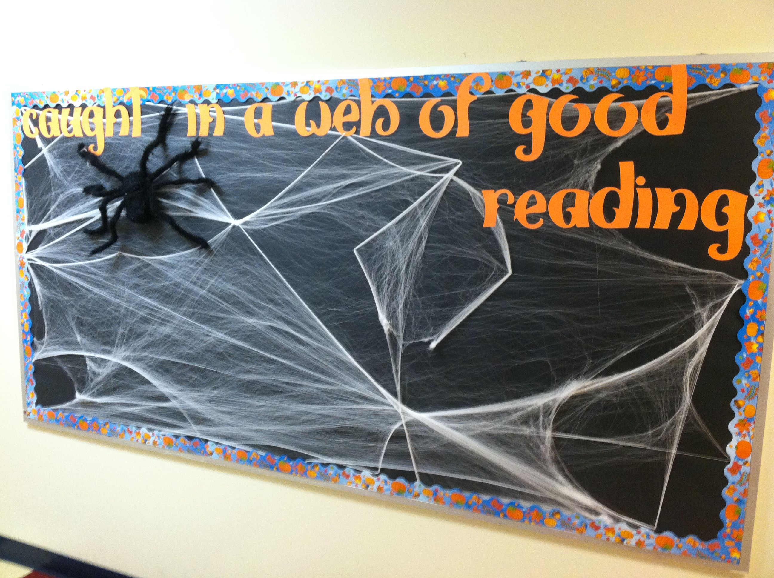 Halloween spider bulletin board | Charlotte\'s Web | Pinterest ...