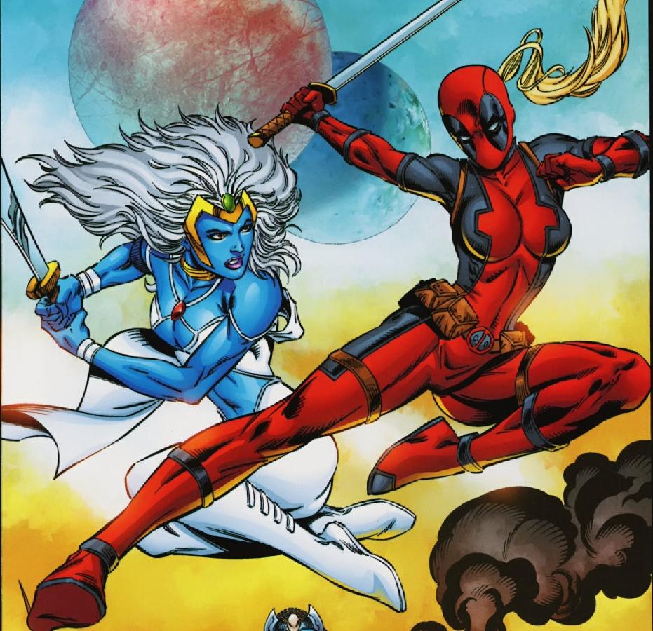 Lady Deadpool And Princess Teela Lady Deadpool Noveno Arte Cosplay
