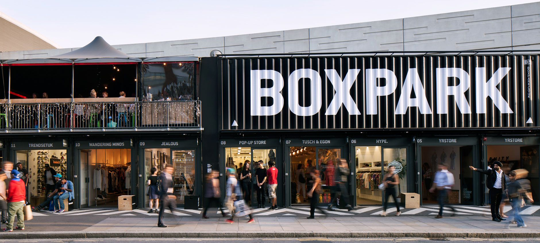 Boxpark Shoreditch Pop Up Mall Boxpark London Box Park Shipping Container