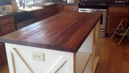 Brazilian Cherry Butcher Block Countertop In 2020 Butcher Block Countertops Wood Interior Design Brazilian Cherry Butcher Block