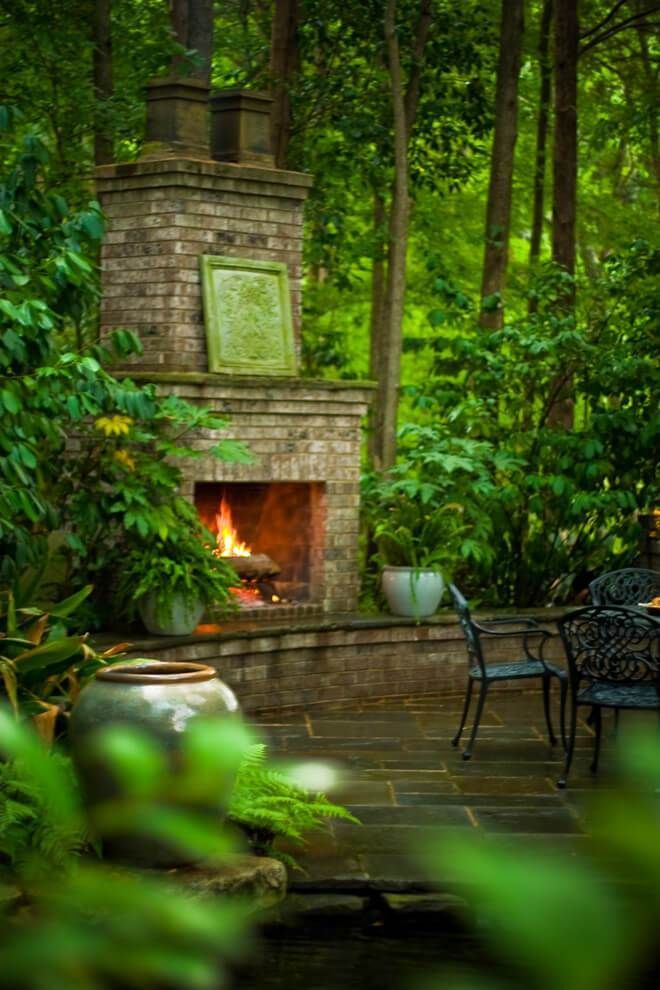 17 Amazing Outdoor Fireplace Ideas to Make S'mores with ... on Amazing Outdoor Fireplaces  id=72822