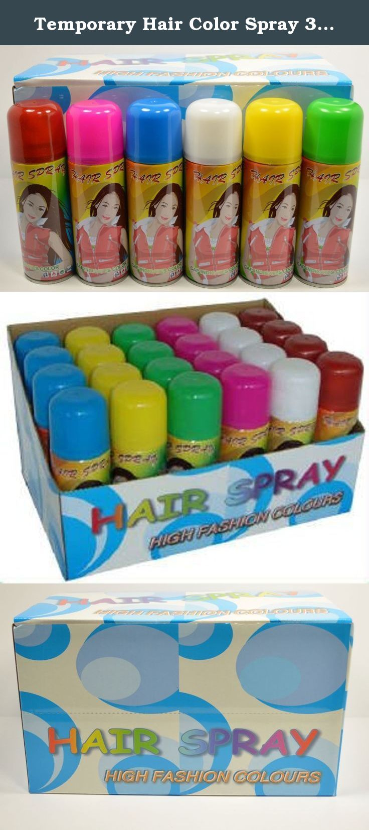 Temporary Hair Color Spray 3 Oz Case 24 Cans Colored Hair