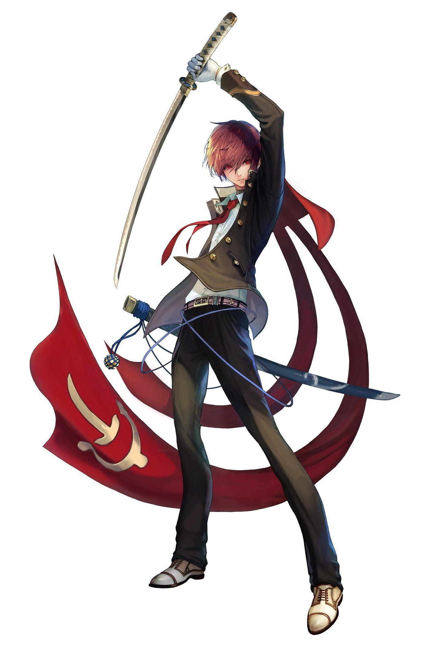 Anime Characters Katana : Anime guy with samurai swords ideas pinterest