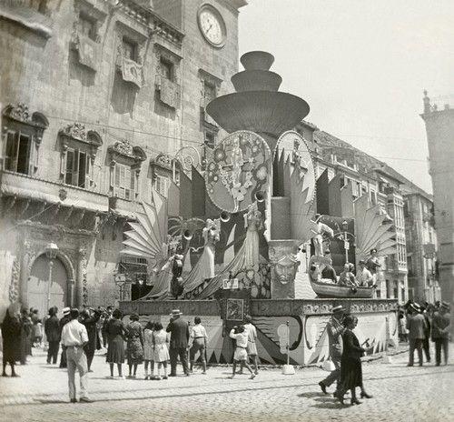 Plaza De La Republica 1932 Alicante España Hogueras De San Juan Alicante