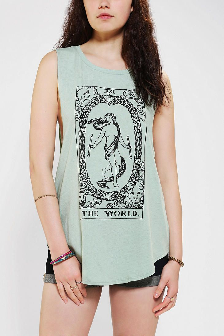 697943a6 DOE Tarot Muscle Tee #urbanoutfitters (obsessed with Tarot right now)