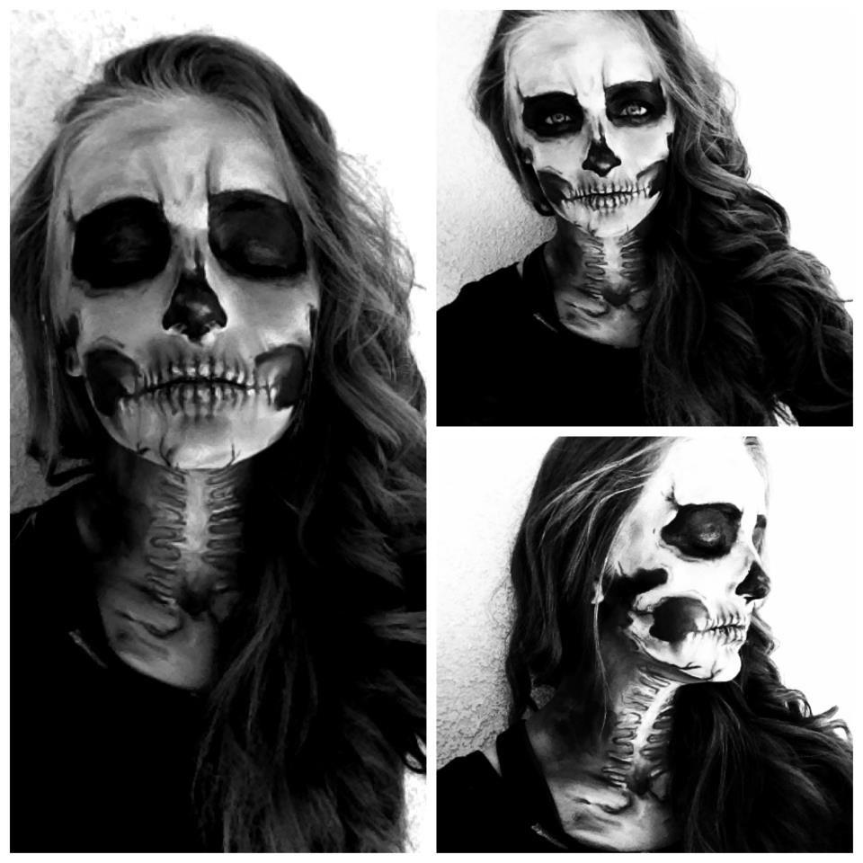 Halloween Skull Makeup~ | Makeup | Pinterest | Halloween skull ...