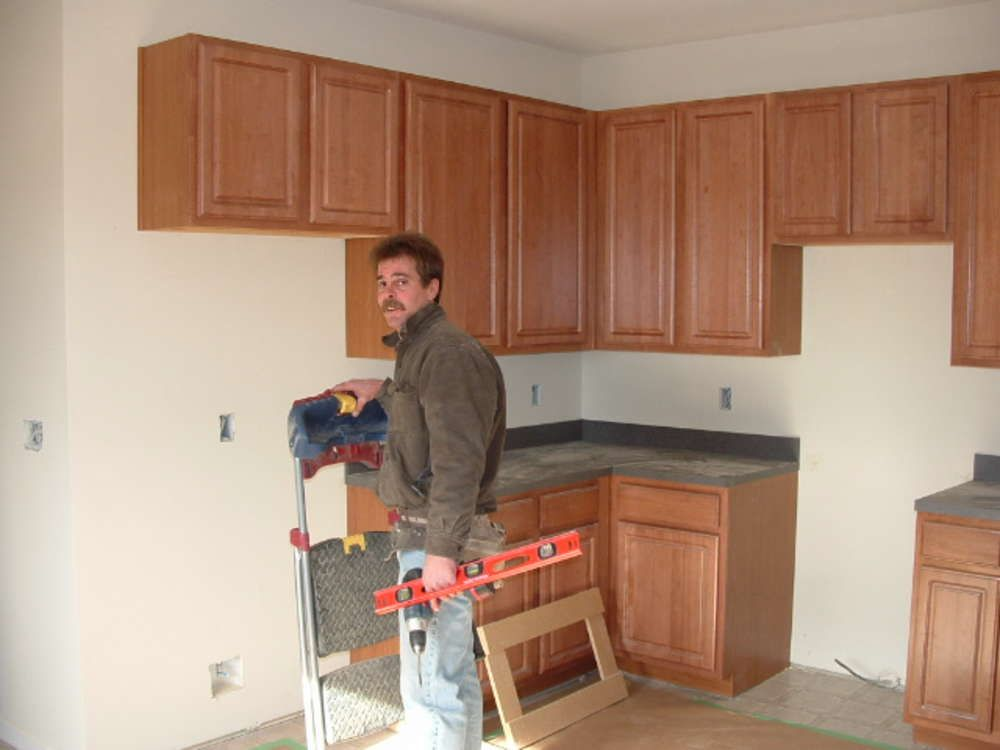 kitchen cool kitchen cabinet installation guide from Installing New ...