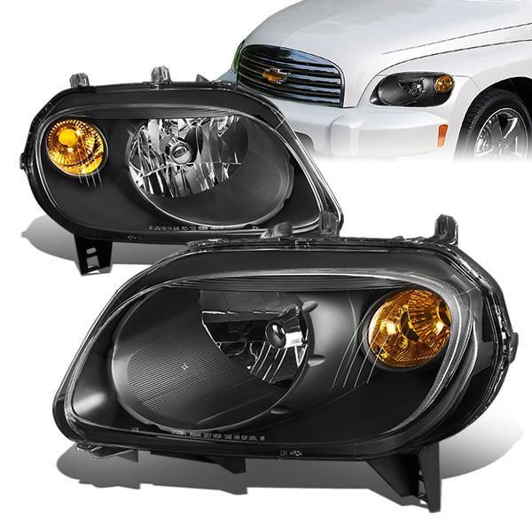 06 11 Chevy Hhr Headlights Black Housing Amber Corner Chevy Hhr Chevy Headlights