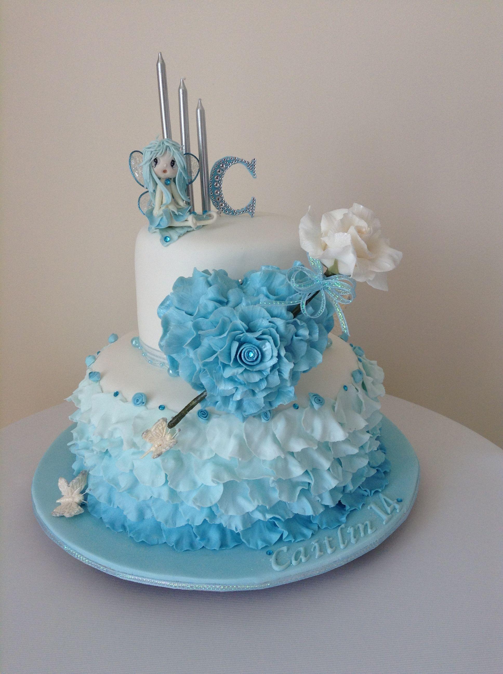 My grand daughters 14th birthday cake