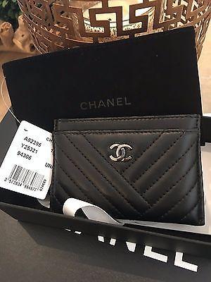 4aecd6aff1da CHANEL LAMBSKIN CARD CASE/WALLET CHEVRON SLG | Bags | Handtaschen ...