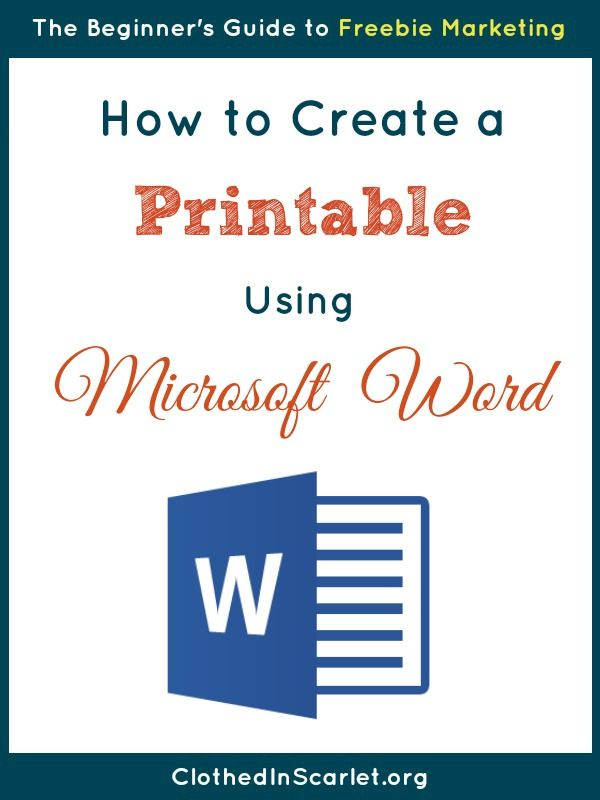 photo about How to Create a Printable titled How toward Build a Printable Taking Microsoft Term PRINTABLES