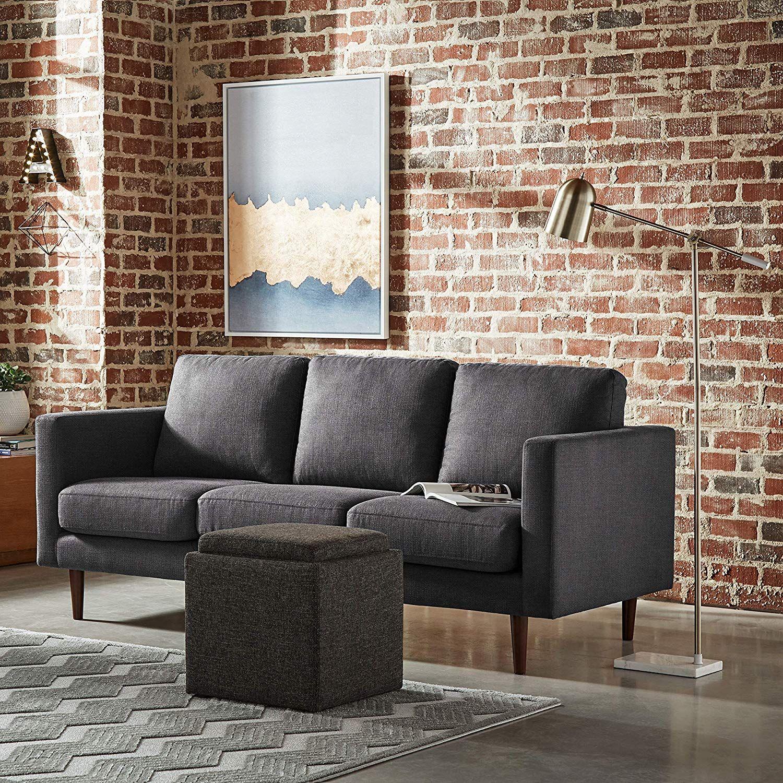 Amazonsmile Rivet Revolve Modern Upholstered Sofa Couch 80 W