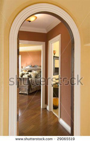 Hallway Stone Trim Condo House Arch Design House Design Kitchen Hallway Designs