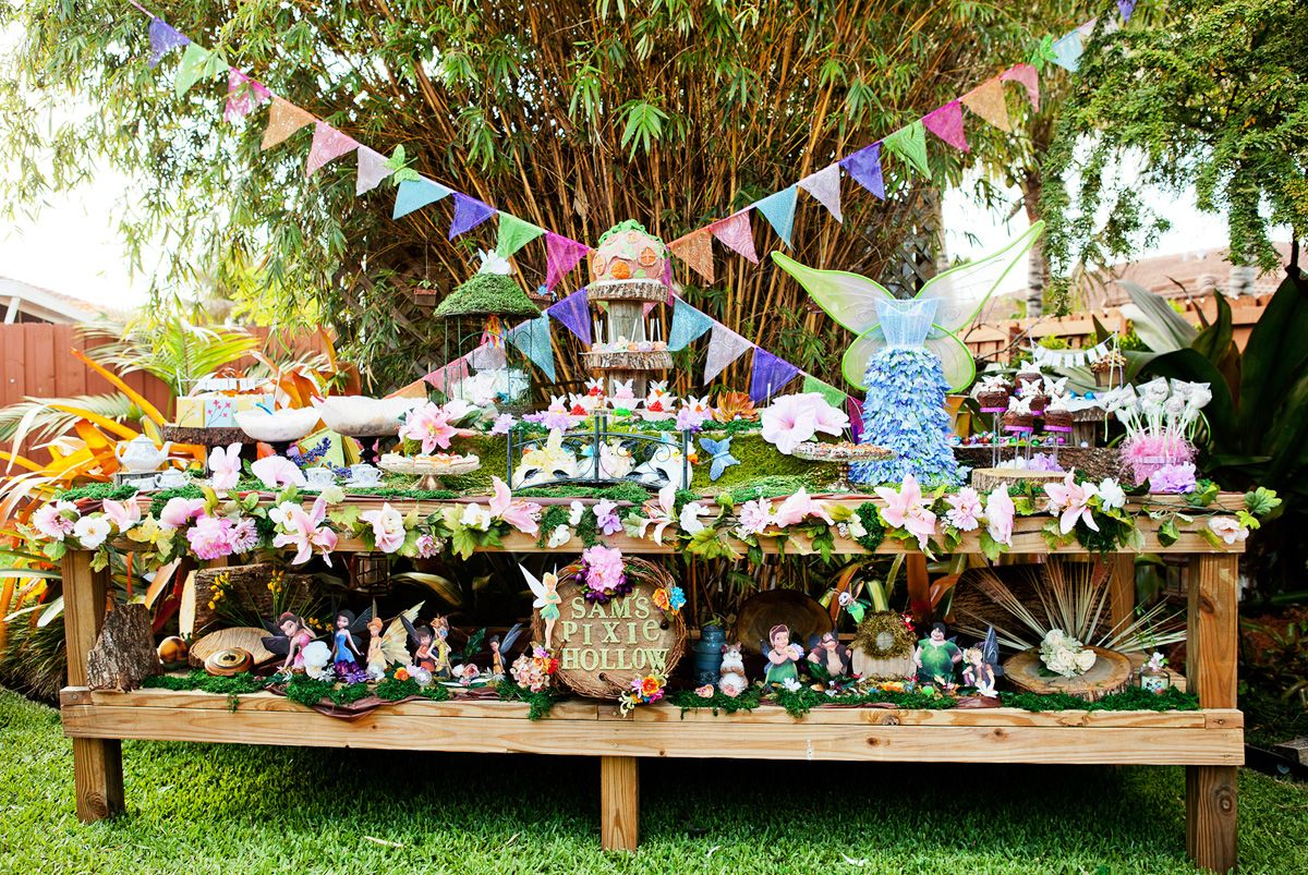 magical tinkerbell party backyard pixie hollow pixie hollow